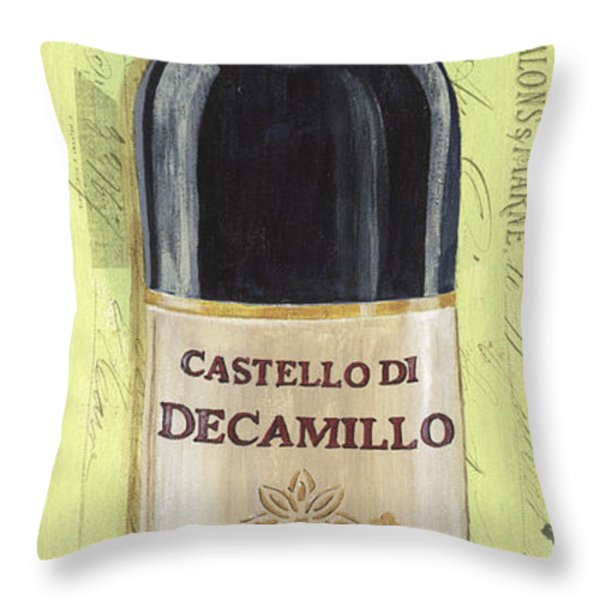 Chianti and Friends Panel 2 Throw Pillow by Debbie DeWitt