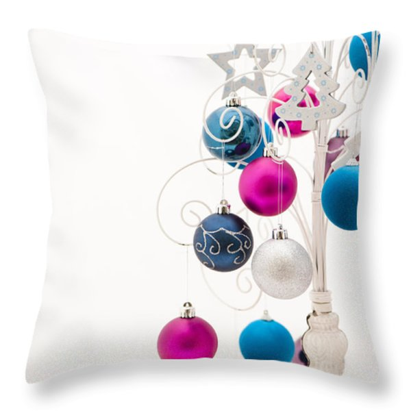 Chic Tree Throw Pillow by Anne Gilbert