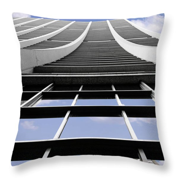 Chicago - Chase Tower Throw Pillow by Christine Till