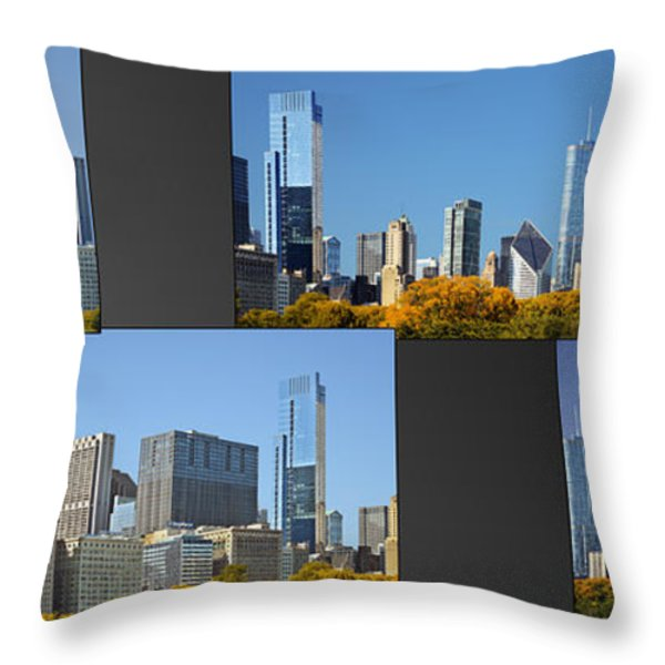 Chicago City of Skyscrapers Throw Pillow by Christine Till