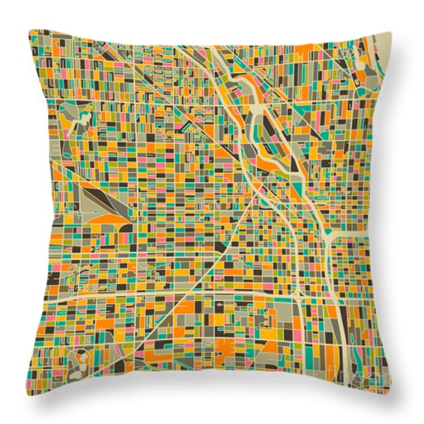 Chicago Throw Pillow by Jazzberry Blue