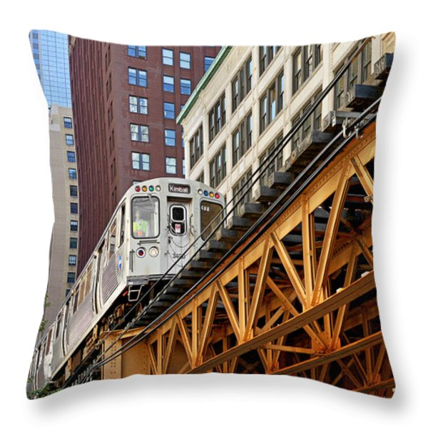 Chicago Loop 'l' Throw Pillow by Christine Till
