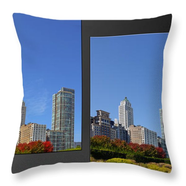 Chicago Skyline Of Superstructures Throw Pillow by Christine Till