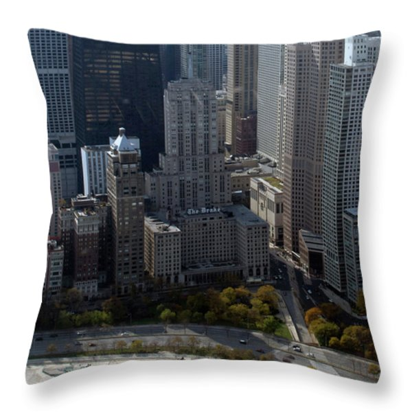 Chicago The Drake Throw Pillow by Thomas Woolworth