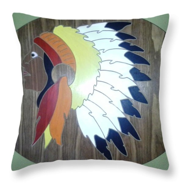 Chief in Cherry Throw Pillow by Michele Moore