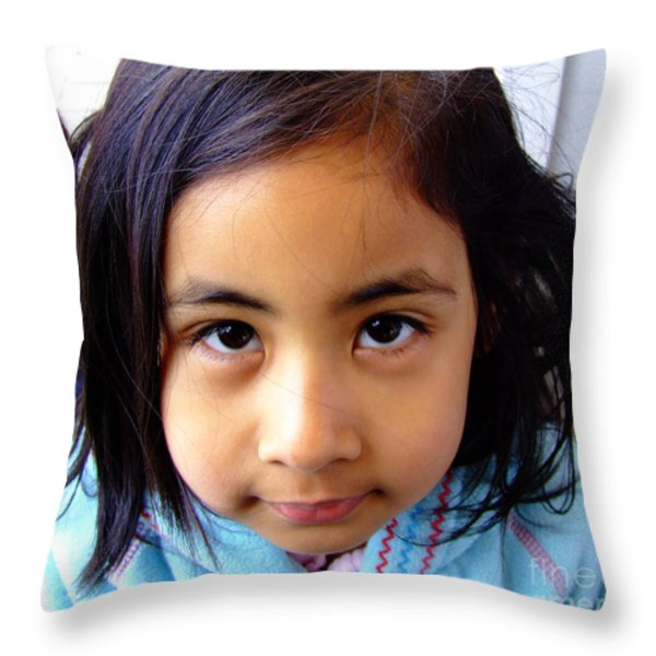 Child Throw Pillow by Andrea Anderegg