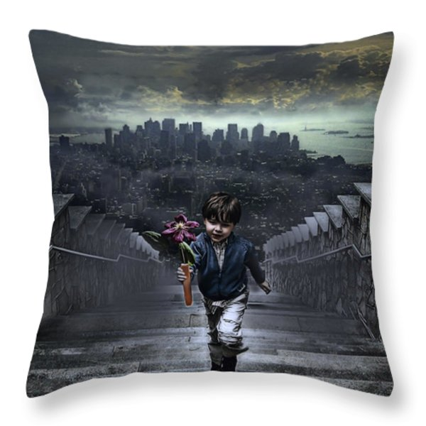 Child Of New York Throw Pillow by Joachim G Pinkawa