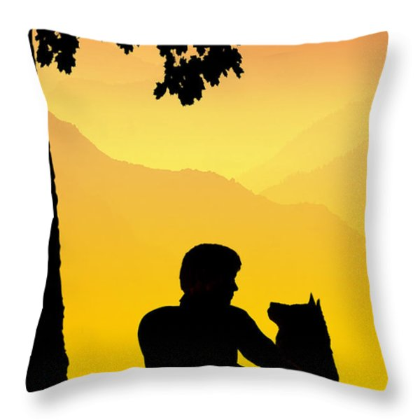 Childhood dreams 4 Best Friends Throw Pillow by John Edwards