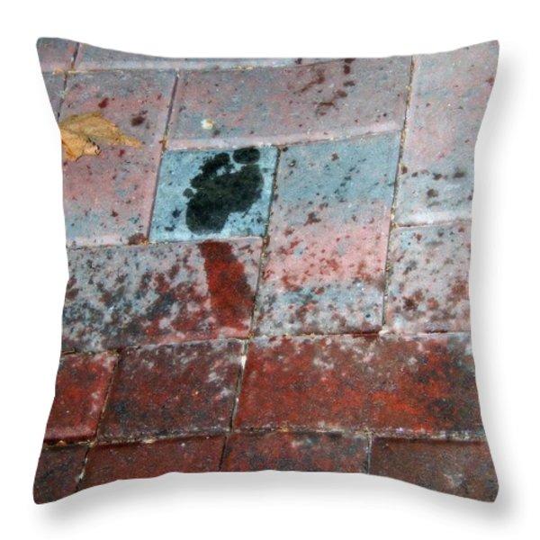 Children Near Throw Pillow by Bobbee Rickard