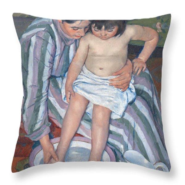 Child's Bath 1893 Throw Pillow by  Mary Stevenson Cassatt
