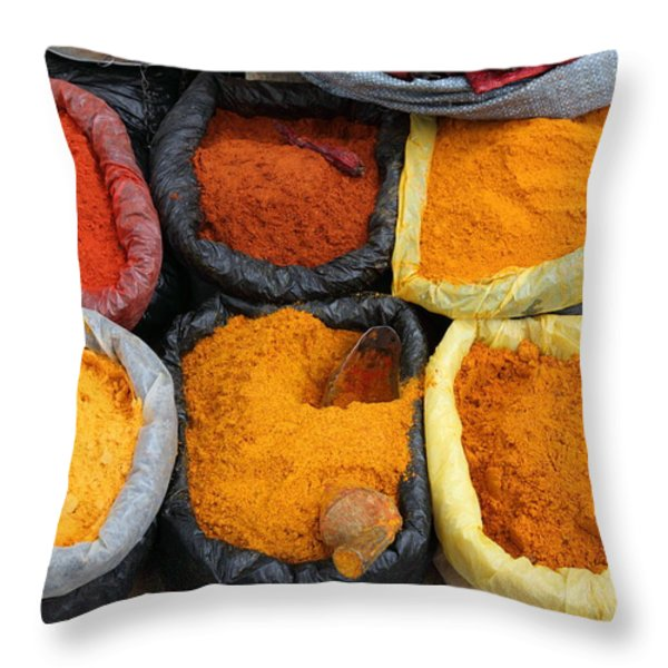 Chilli Powders 3 Throw Pillow by James Brunker