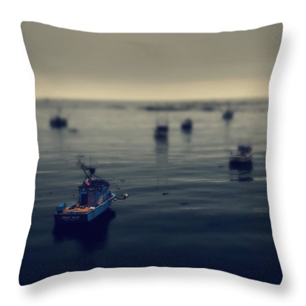 Chilly Willy Throw Pillow by Laurie Search