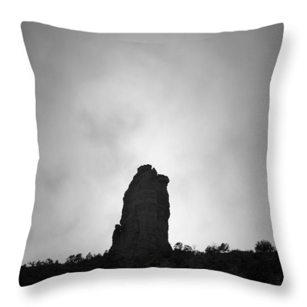 Chimney Rock IIi Throw Pillow by David Gordon