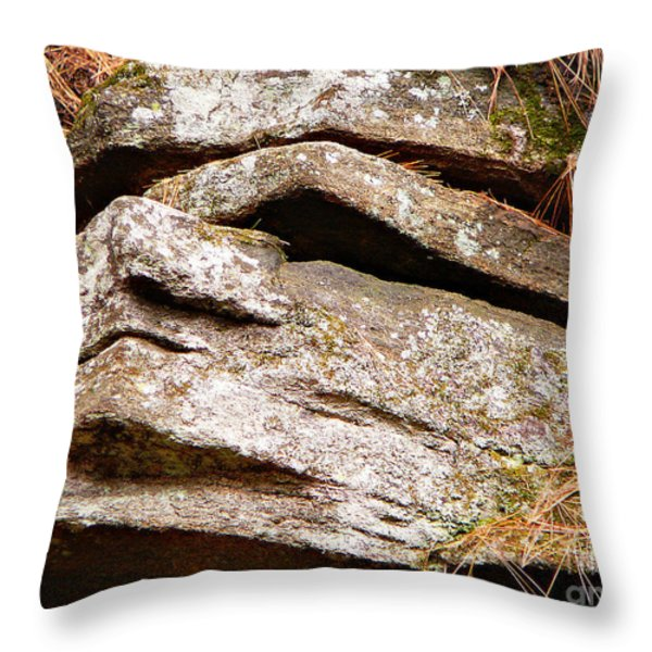 Chin Up Throw Pillow by Chris Sotiriadis