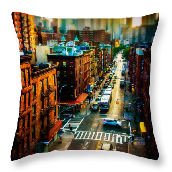 Chinatown Streets Throw Pillow by Chris Lord