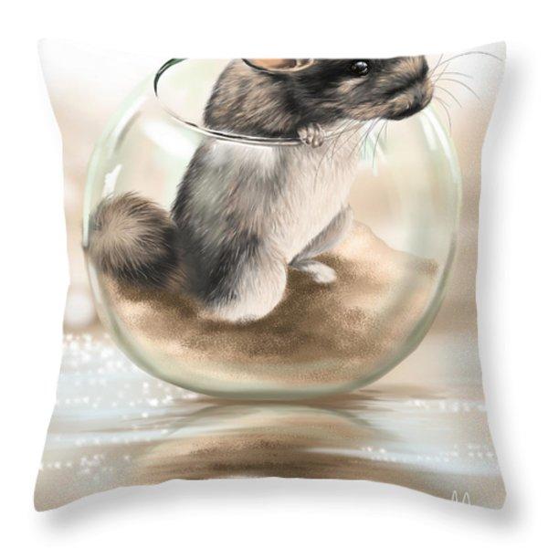Chinchilla Throw Pillow by Veronica Minozzi