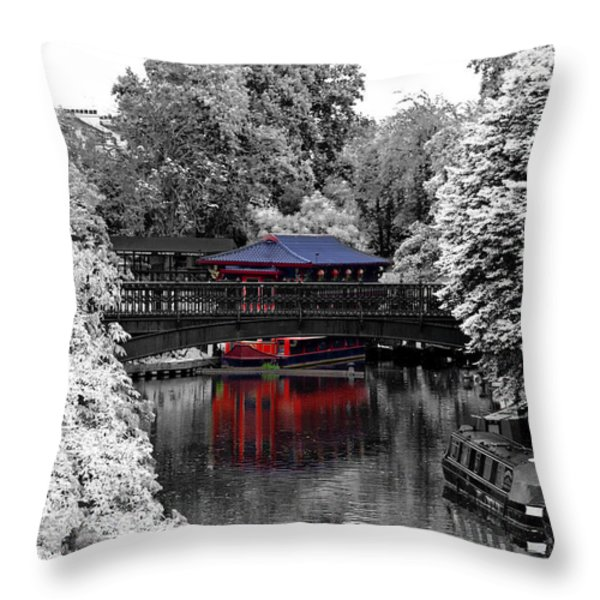 Chinese Architecture In Regent's Park Throw Pillow by Maj Seda