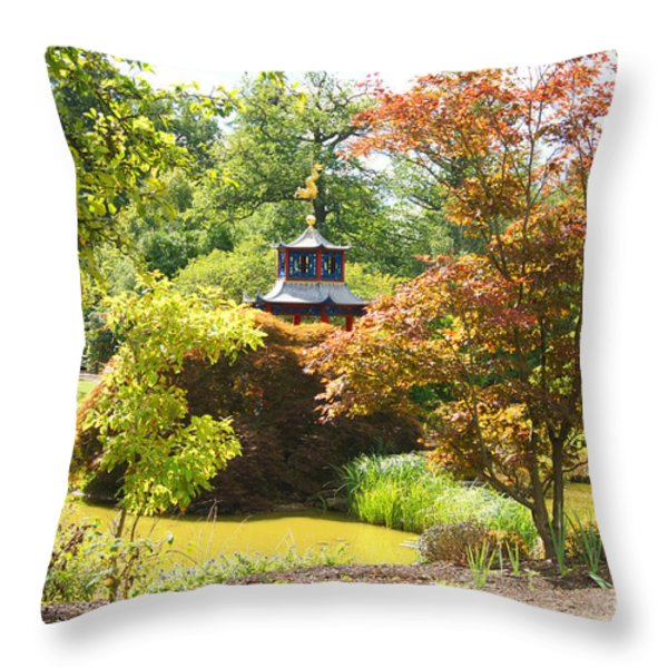 Chinese Water Garden Throw Pillow by Jonathan Steward