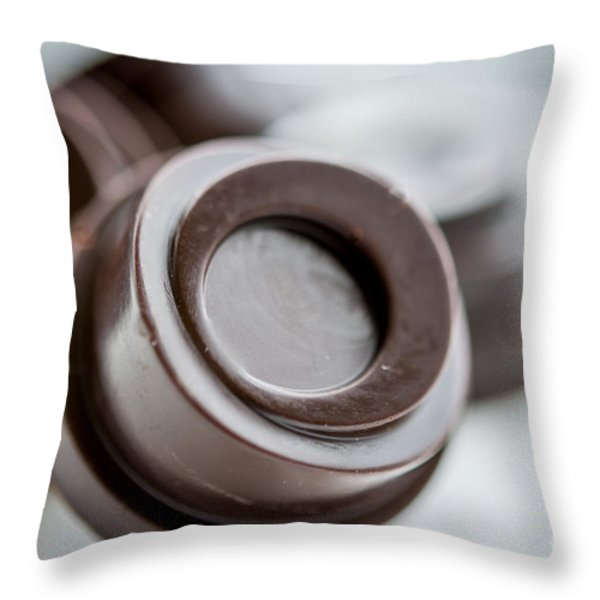 Chocolate Button - By Sabine Edrissi Throw Pillow by Sabine Edrissi