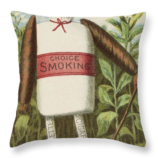 Choice Smoking Throw Pillow by Aged Pixel