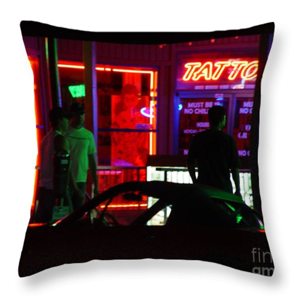 Choices After Midnight Throw Pillow by Peter Piatt