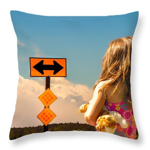 Choices Throw Pillow by Bob Orsillo
