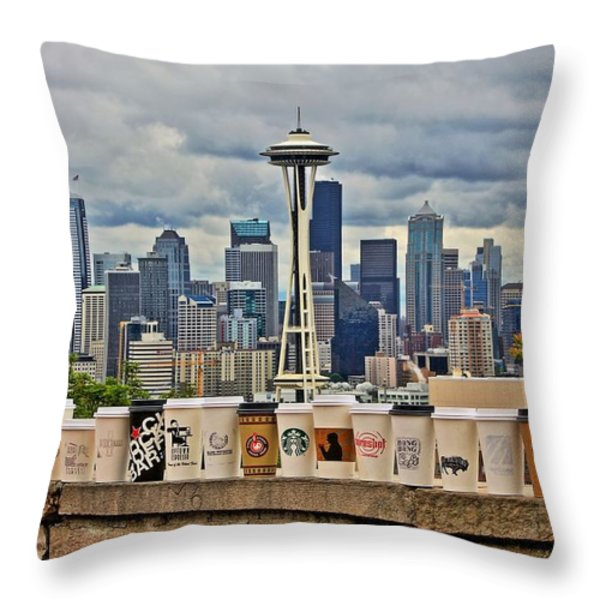 Choose Your Brew Throw Pillow by Benjamin Yeager