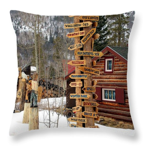 Choose Your Direction Throw Pillow by Fiona Kennard