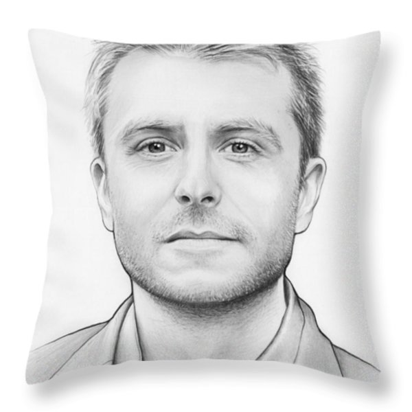 Chris Hardwick Throw Pillow by Olga Shvartsur