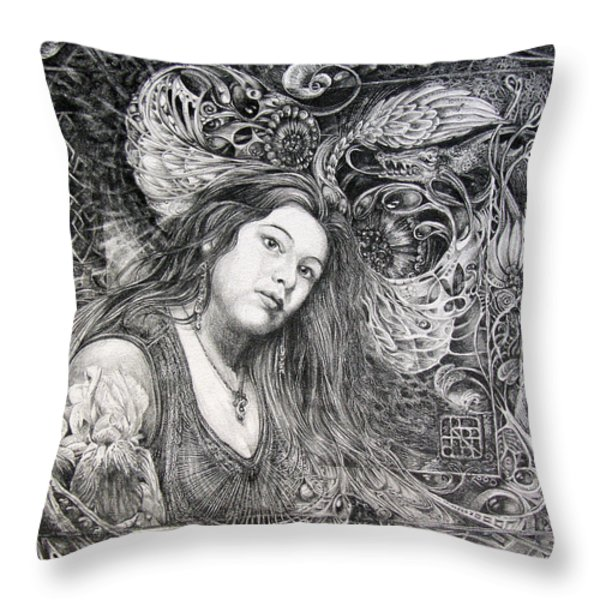 Christan Portrait Throw Pillow by Otto Rapp