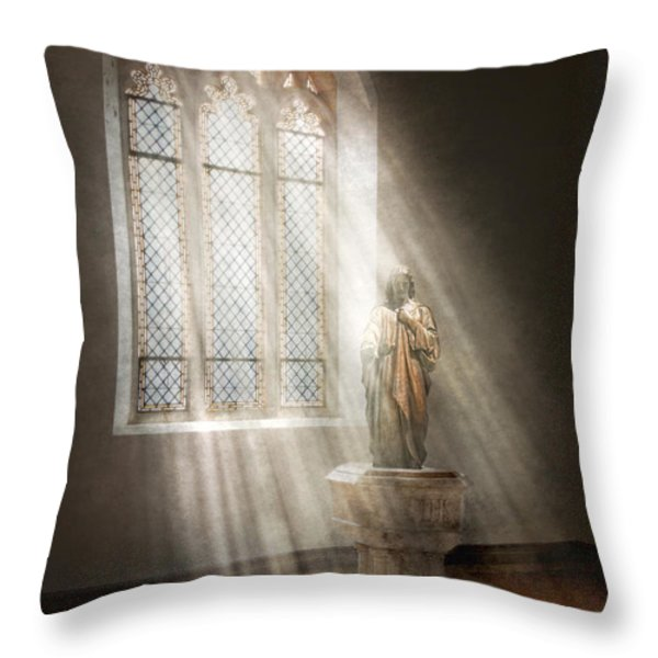 Christian - Heavenly Father Throw Pillow by Mike Savad