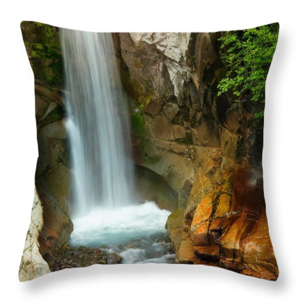 Christine Falls Throw Pillow by Inge Johnsson