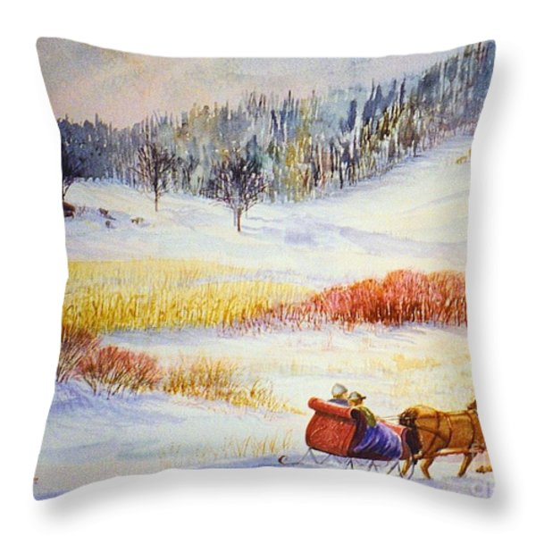 Christine's Ride Throw Pillow by Marilyn Smith