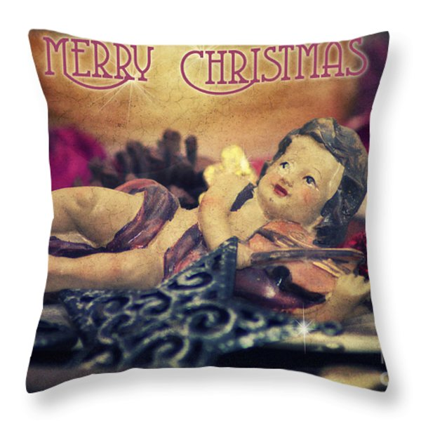 Christmas Angel II Throw Pillow by Angela Doelling AD DESIGN Photo and PhotoArt