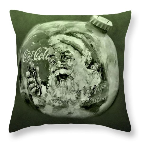 Christmas Coca Cola Throw Pillow by Dan Sproul