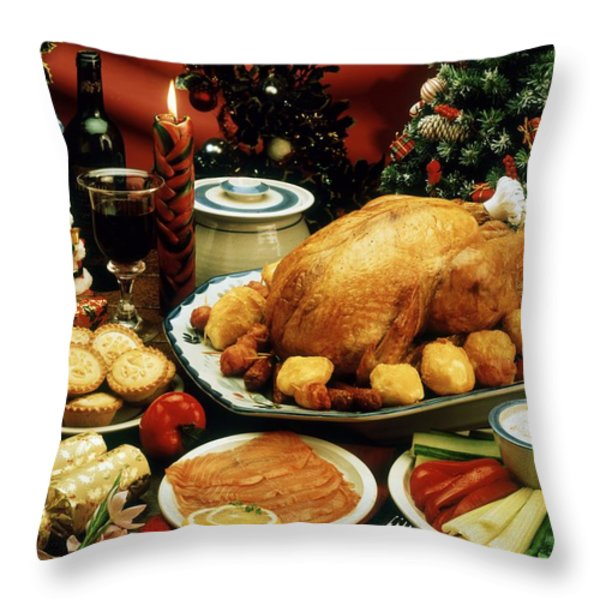 Christmas Dinner Throw Pillow by The Irish Image Collection