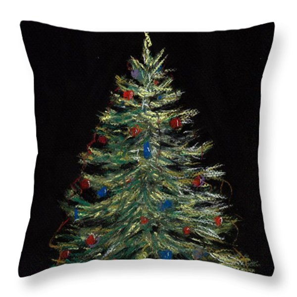 Christmas Eve Throw Pillow by Anastasiya Malakhova