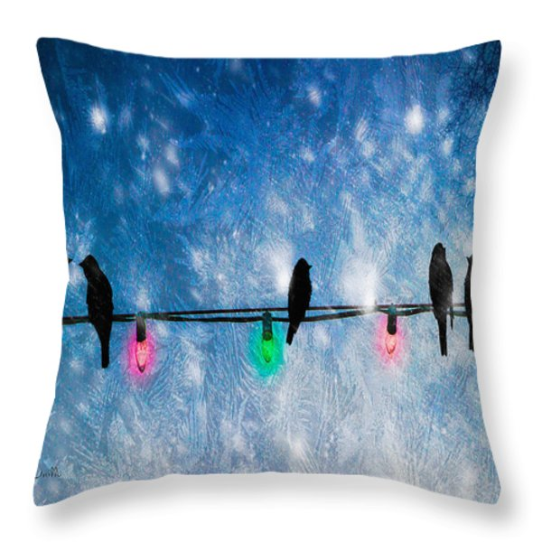 Christmas Lights Throw Pillow by Bob Orsillo