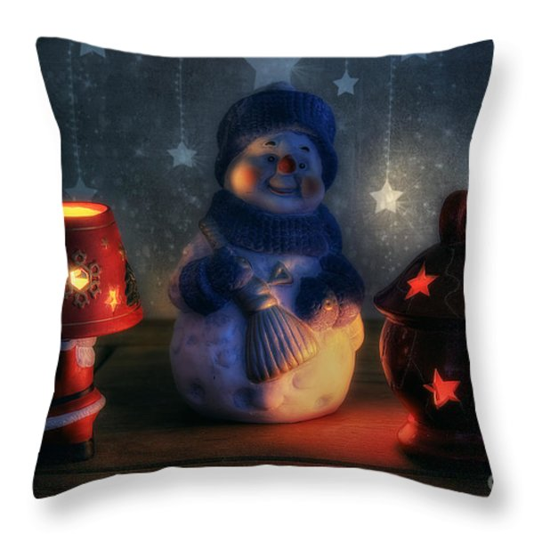 Christmas Ornaments Throw Pillow by Ian Mitchell