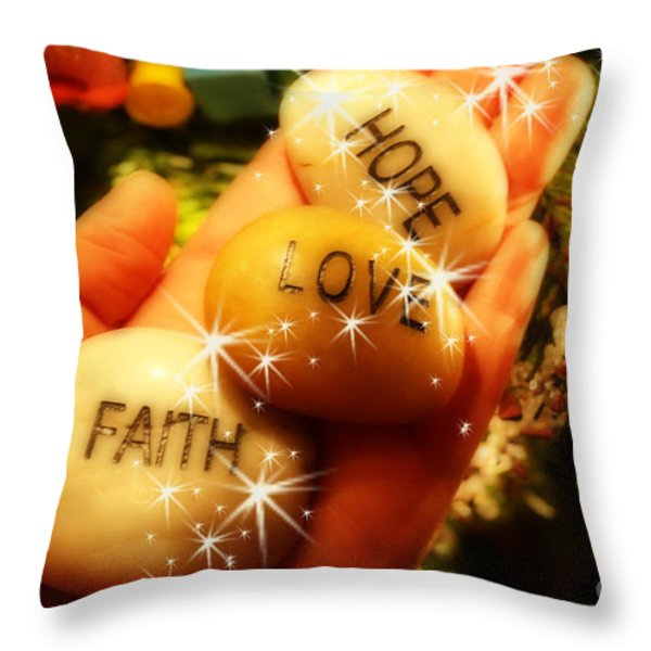 Christmas Spirit Throw Pillow by Cathy  Beharriell