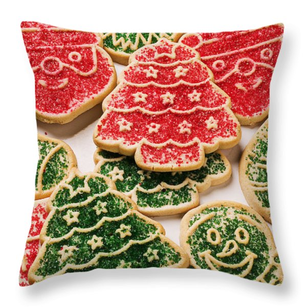 Christmas sugar cookies Throw Pillow by Garry Gay