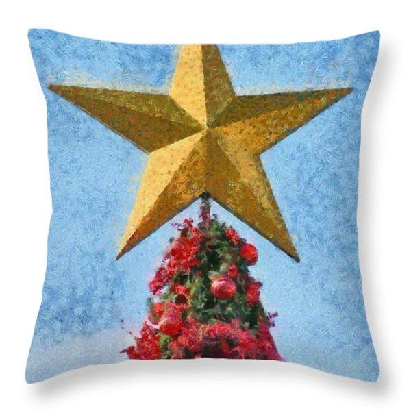 Christmas tree Throw Pillow by George Atsametakis