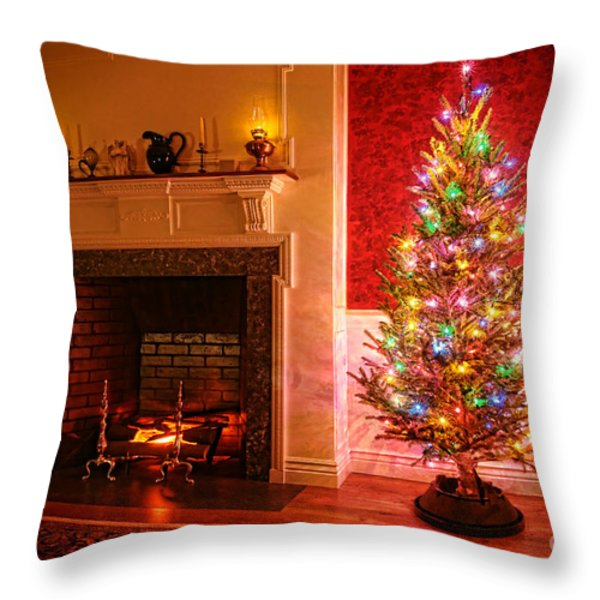 Christmas Tree Throw Pillow by Olivier Le Queinec
