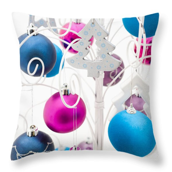 Christmas Tree Tree Throw Pillow by Anne Gilbert