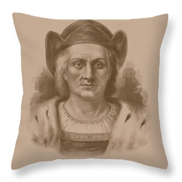 Christopher Columbus Throw Pillow by War Is Hell Store