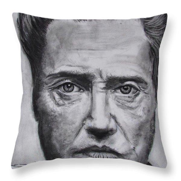Christopher Walken Throw Pillow by Eric Dee