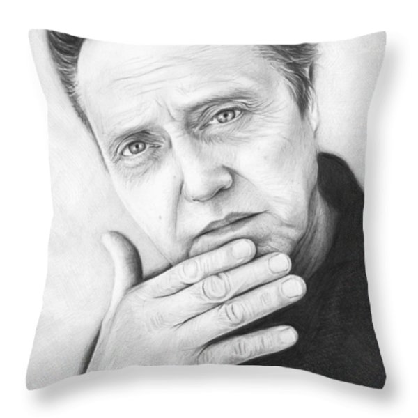 Christopher Walken Throw Pillow by Olga Shvartsur