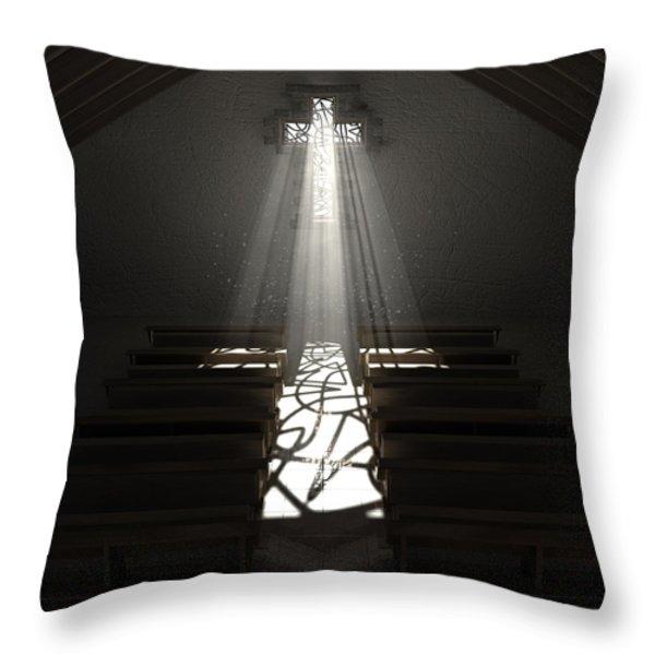 Christ's Light In The Dark Throw Pillow by Allan Swart