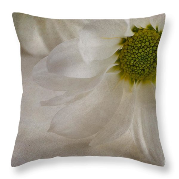 Chrysanthemum Textures Throw Pillow by John Edwards