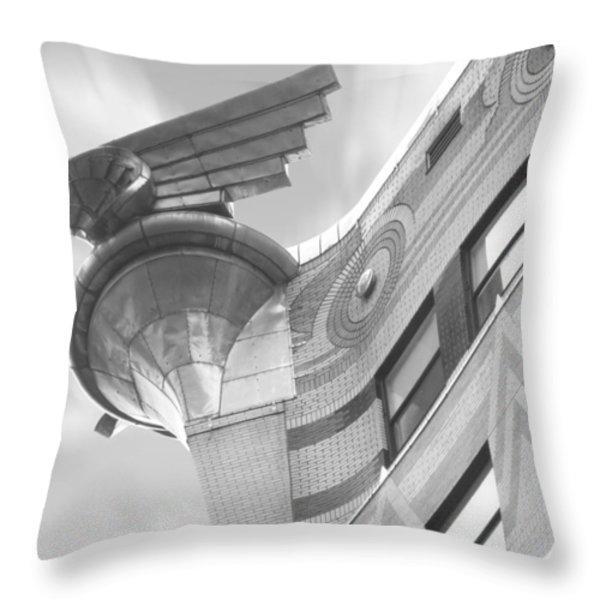 Chrysler Building 4 Throw Pillow by Mike McGlothlen